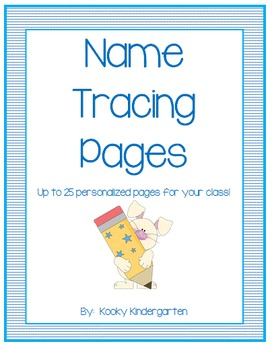 Name Tracing Page K Groninger