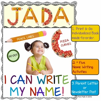 Name Writing: No-Prep, Individualized Book made-to-order,