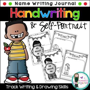 Name Writing & Self-Portrait Documentation through the yea