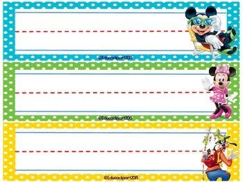 Name plates _ Mickey Mouse theme