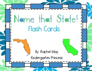 Name that State Flash Cards