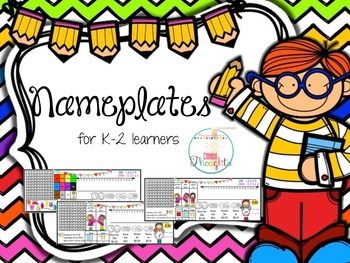 Nameplates for K-2 learners