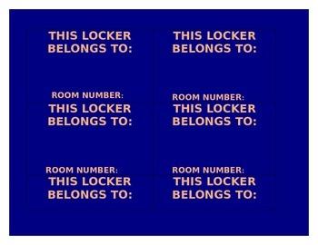 Nameplates, locker tags, book-bin labels, math tools labels