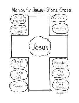 Names for Jesus - Stone Cross activity