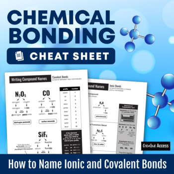 Chemical Bonding Cheat Sheet: How to Name Ionic and Covale