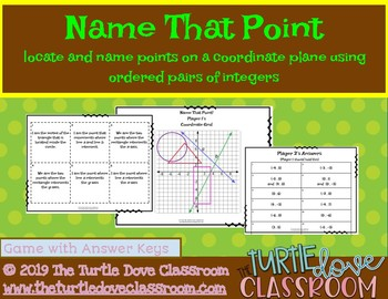 Naming Points on a grid handout