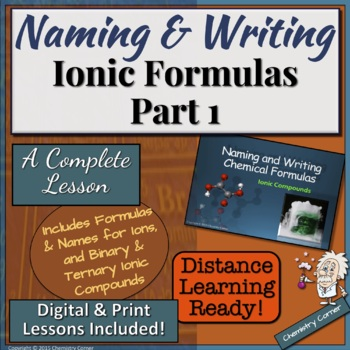 Naming & Writing Ionic Formulas: Part One