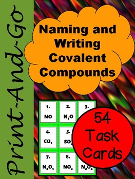 Naming and Writing Covalent Compounds *Task Cards*