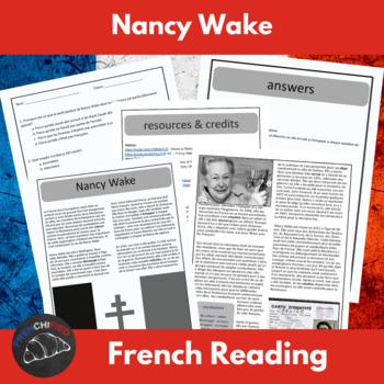 Nancy Wake -  reading & questions for intermediate/advance