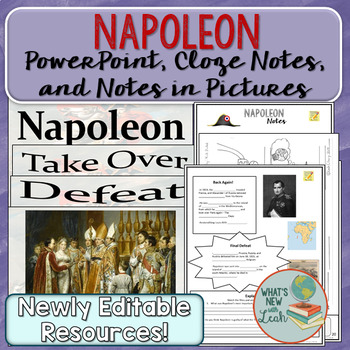 Napoleon PowerPoint, Cloze Notes, and Picture Notes