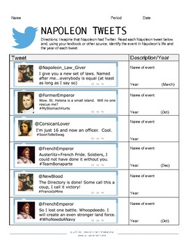 Napoleon Tweets Classroom Activity