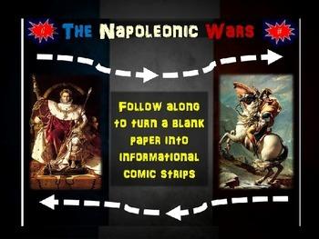 Napoleonic Wars Comics: 20 follow-along slides for student