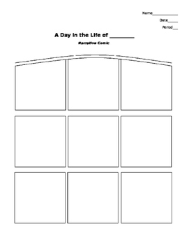 Narrative Comic Template & Example