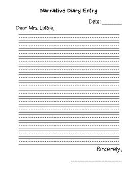 Narrative Diary Entry