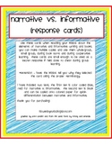 Narrative Informative Response Cards