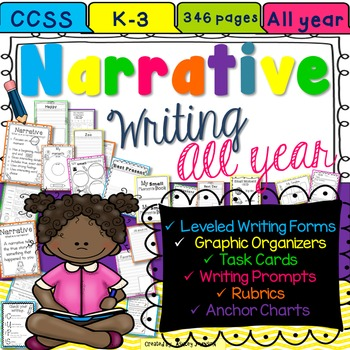 Narrative Paragraph Writing Unit All Year K-3 346 pages