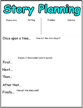 Narrative Planning Page and Writing Booklet to Write It In