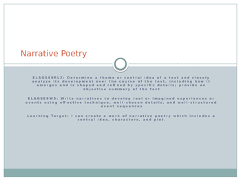 Narrative Poetry PPT