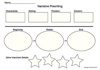 Narrative Prewriting Chart