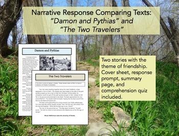 Comparing Texts Narrative Response 1