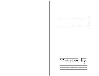 Free Narrative Student Writing Book