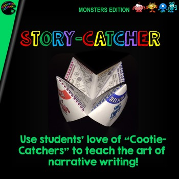 "Cootie Catcher Narrative Writing: ""Story-Catcher"" (Monster"