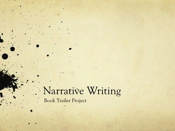 Narrative Writing - Book Trailer Project