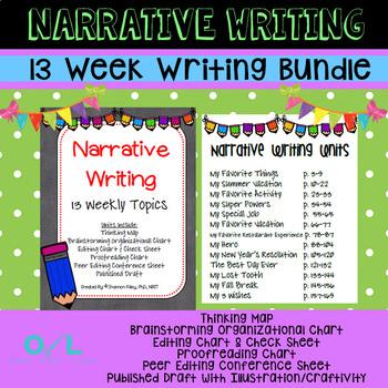 Narrative Writing Bundle {13 Weekly Topics}