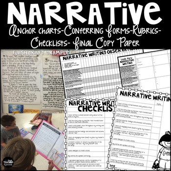 Narrative Writing Checklist, Rubric, Conference Forms, Anc