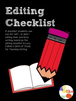 Narrative Writing Editing Checklist