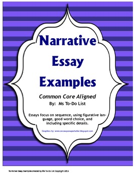 Narrative Writing Examples