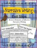 Narrative Writing Exit Slips