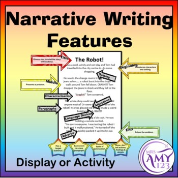Narrative Writing Features - Display or Activity