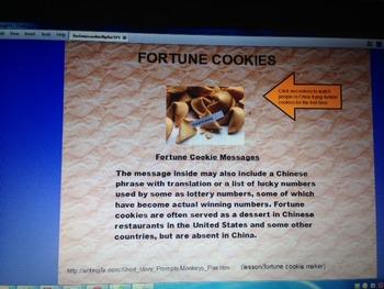 Narrative Writing Flipchart Fortune Cookie