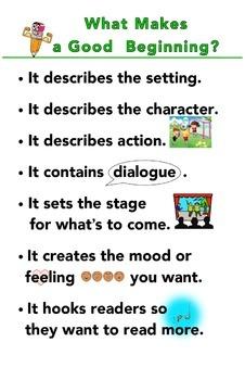 Narrative Writing Grade 2 - What Makes a Good Beginning/Ending