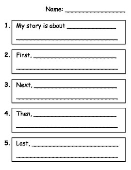 Free Narrative Writing Graphic Organizer - First Next Then Last
