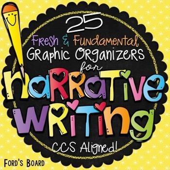 Narrative Writing Graphic Organizers: Common Core Aligned