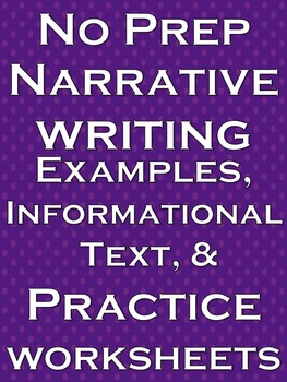 Narrative Writing No Prep Lesson Literacy Practice Workshe