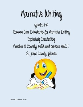 Common Core Narrative Writing Made Easy with Self-Assessment