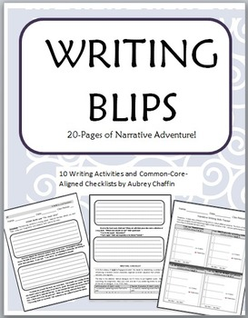 Narrative Writing Middle Grades Writing Blips