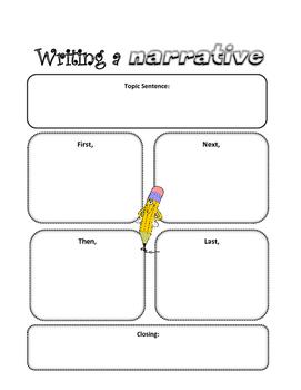 Narrative Writing Organizer By Teacher's Brain