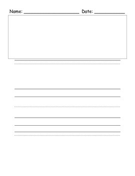 Narrative Writing Paper Choice with Printing Lines