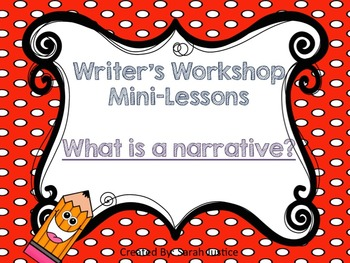 (Narrative writing) Writer's Workshop mini-lesson for 1st