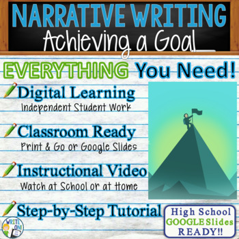NARRATIVE WRITING PROMPT - Achieving a Goal - High School