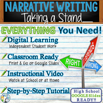 NARRATIVE WRITING PROMPT - Courage - High School