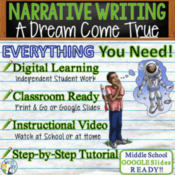 NARRATIVE WRITING PROMPT - Dreams - Middle School