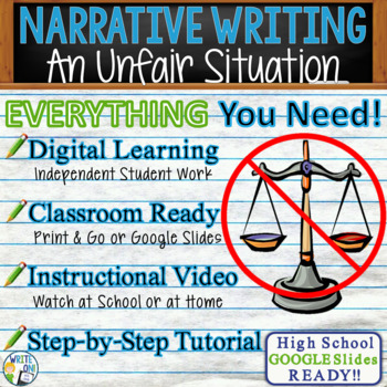 NARRATIVE WRITING PROMPT - Fairness - High School