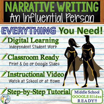 NARRATIVE WRITING PROMPT - Influence - Middle School