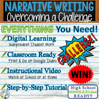 NARRATIVE WRITING PROMPT - Overcoming a Challenge - High School