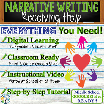 NARRATIVE WRITING PROMPT - Receiving Help - Middle School